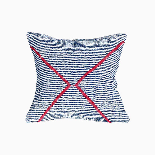 Beni Ourain Rug Pillow- Blue