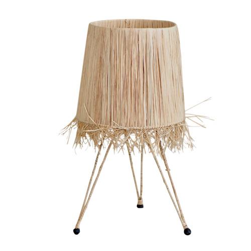 Moroccan Rafia Table Lamp