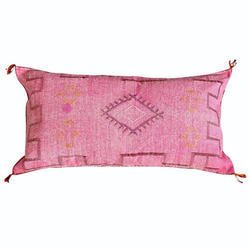 Sabra Silk Pillow -Pink