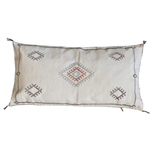 Sabra Silk Pillow -White