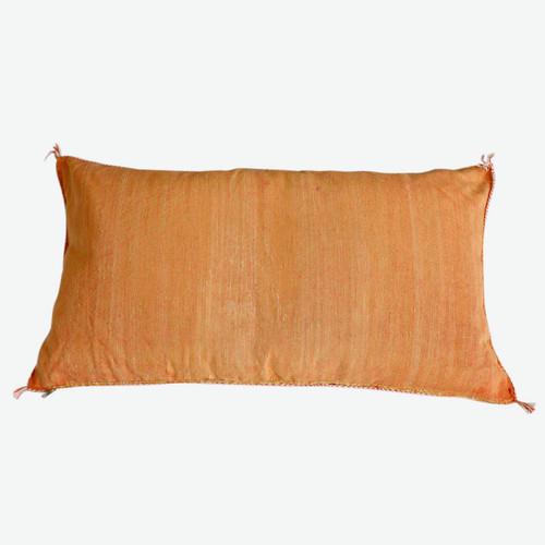 Sabra Silk Pillow -Orange