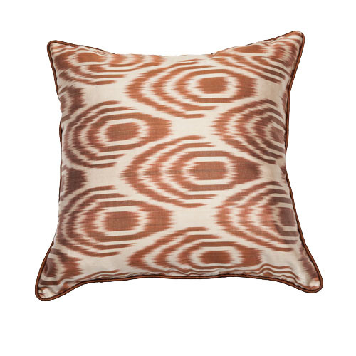 Ikat Pillow Deregozu Cream