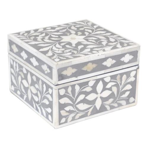 Indian Jewelry Box / Grey