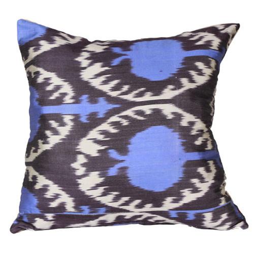 Aqua Ikat Pillow