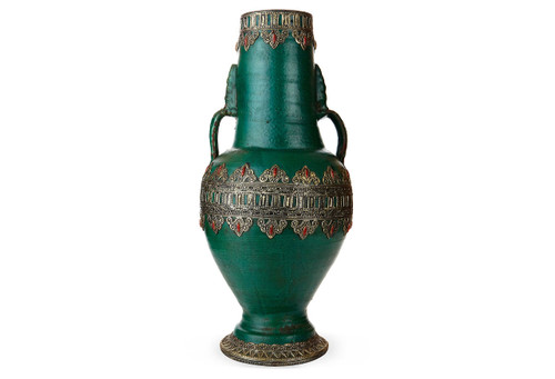 Moroccan Fassi Green Vase