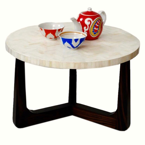 R70 Bone Inlaid Coffee Table, Natural 22