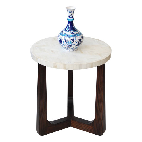 R70 Bone Inlay Side Table, Natural