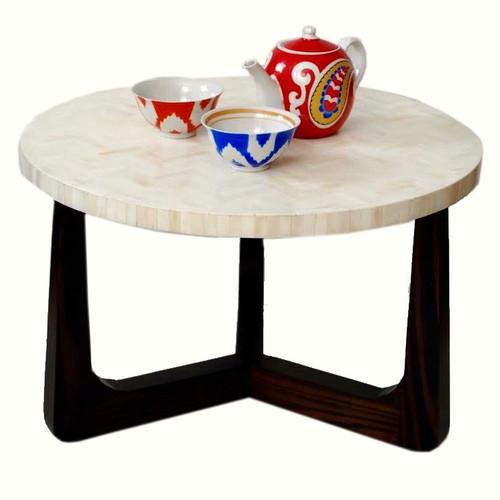 "R70 Bone Inlaid Coffee Table, Natural 30"""