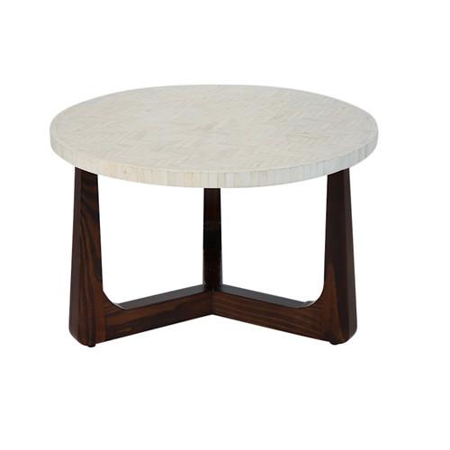 "R70 Bone Inlay Coffee Table, Natural 30"""