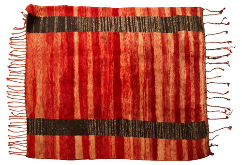 Beni Ourain Rug /  Red and Brown