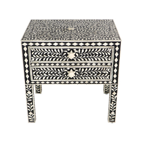 Indian Bone Inlay Bedside Table