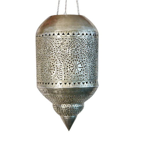 Moroccan Silver Metal Pendant lamp