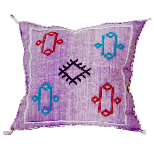Moroccan Berber Sabra Throw Pillow, Purple