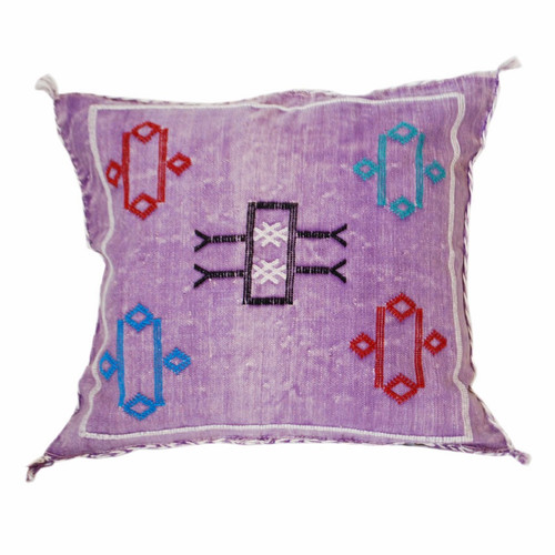 Moroccan Berber Sabra Throw Pillow, Purple 2