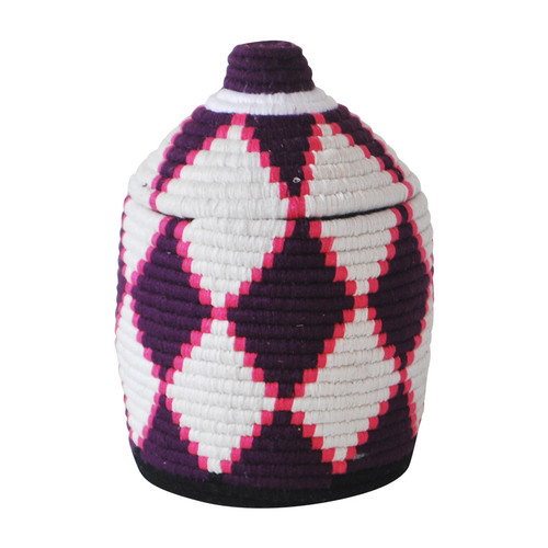 Moroccan Bread Basket, Pink and White