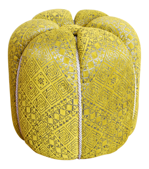 Moroccan Fabric Pouf, Green