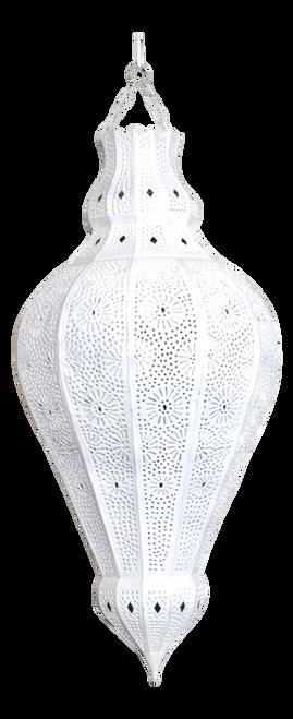 Moroccan White Lamp