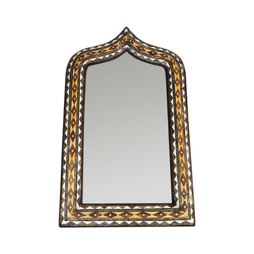 Moroccan Bone Inlaid Arch Mirror