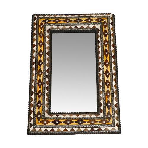 Moroccan Bone Inlay Mirror