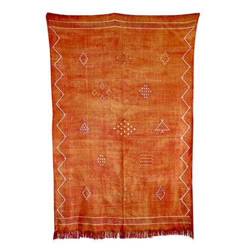 Sabra Rug- Orange Silk