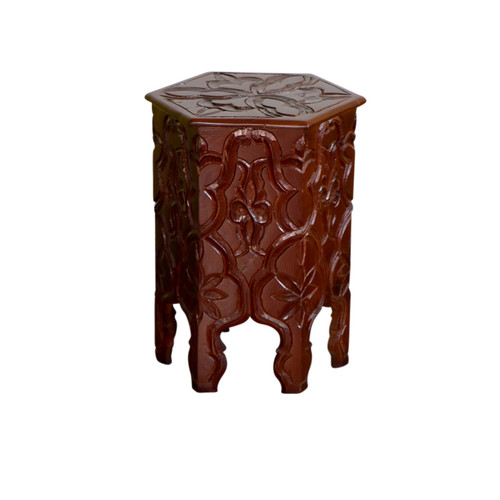 Moroccan Handcarved  Wood Table