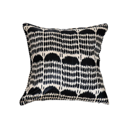 Ikat Pillow- Black Boukhara