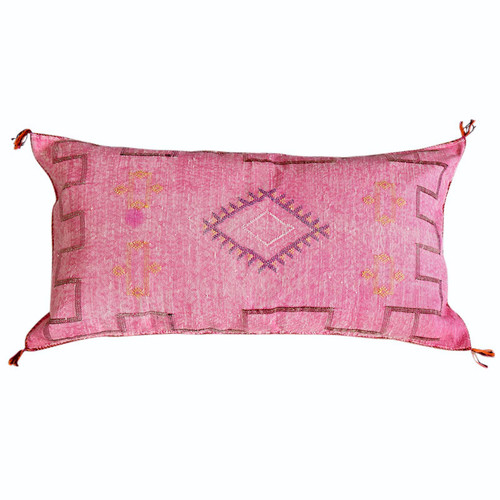 Sabra Silk Pillow -Pink