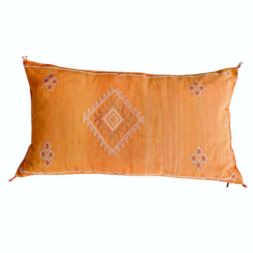 Sabra Silk Pillow -Orange
