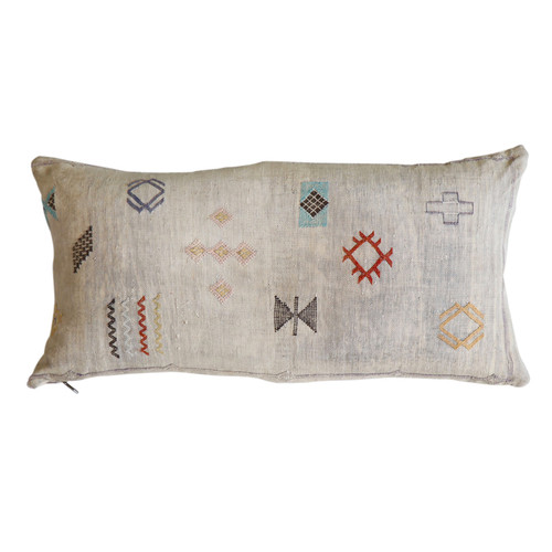 Sabra Silk Pillow -Grey