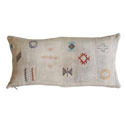 Sabra Silk Pillow -Grey
