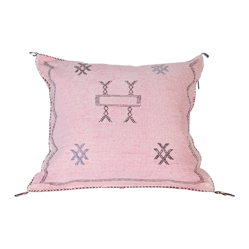 Silk Sabra Pillow- Rose