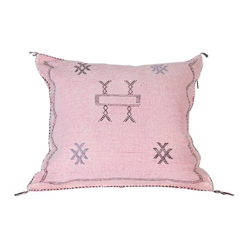 Rose Cactus Silk Pillow
