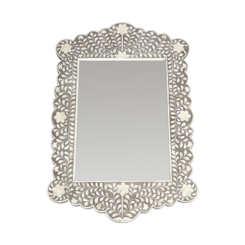 Tangier Bone Inlay Mirror