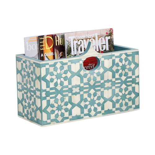 Arabesque Bone Inlay Magazine Holder