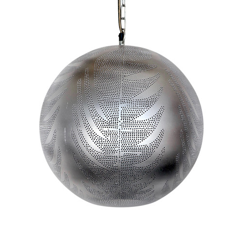 Moroccan Silver Round Lamp