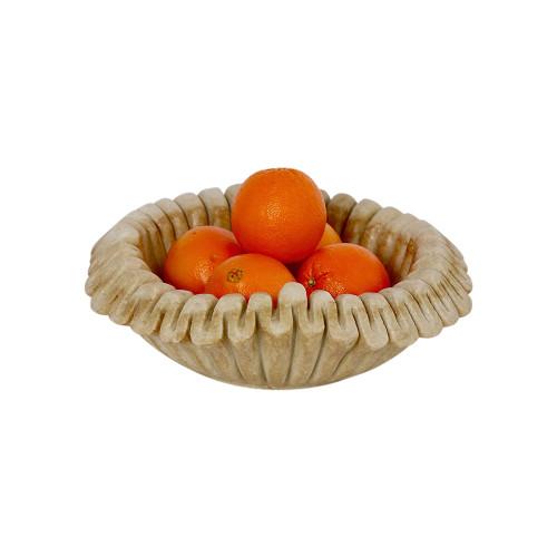 Folded Edge Indian Marble Bowl