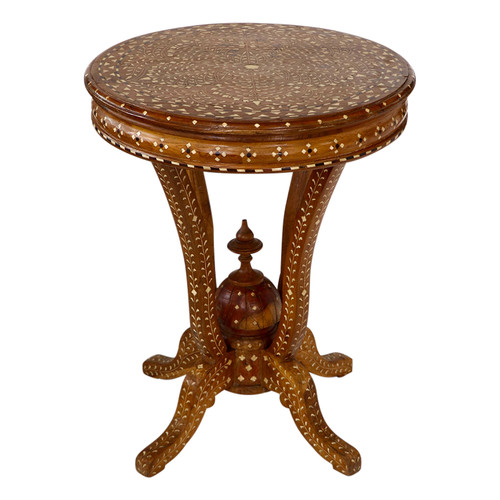 Jain Antique Bone Inlay Table