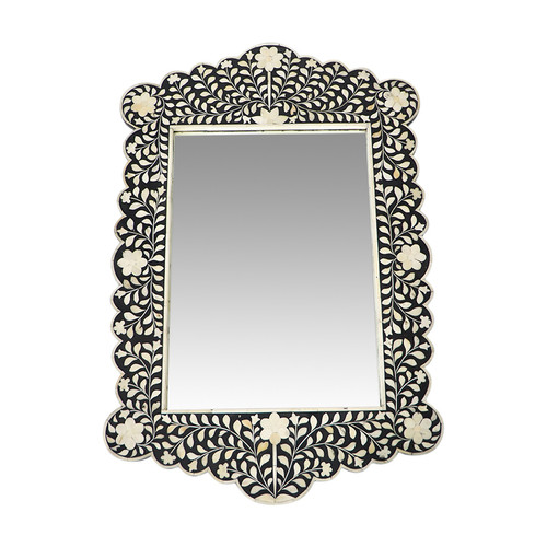 Tangier Black Bone Inlay Mirror