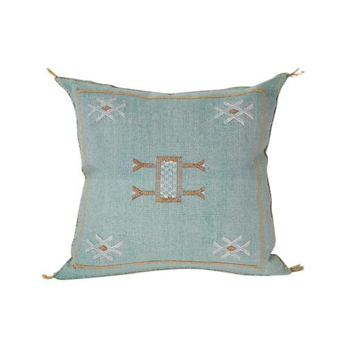 Silk Sabra Pillow- Turquoise