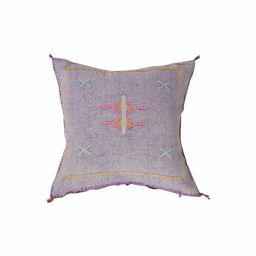 Moroccan Sabra Throw Pillow- Purple