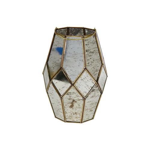 Mercury Glass Candle Lantern
