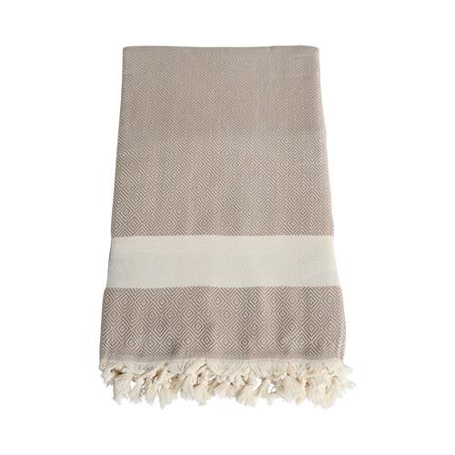 Beige Turkish Towel Blanket
