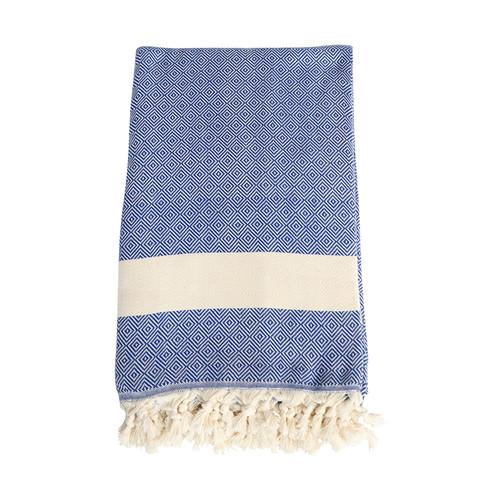 Blue Turkish Towel Blanket