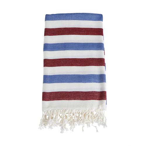 Lili Turkish Towel- Burgundy