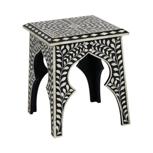 Black Bone Inlay Table