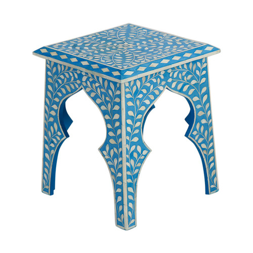 Blue Bone Inlay Table