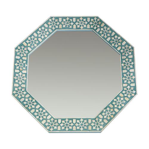 Turquoise  Bone Inlay Mirror