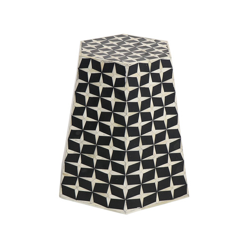 Hexagonal Bone Inlay table