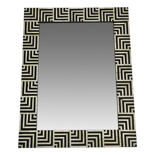 Dune Black Bone Inlay Mirror