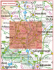 Postcode City Sector XL Map - Derby & Nottingham - Coverage